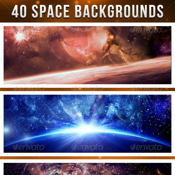 Forty Deep Space Backgrounds