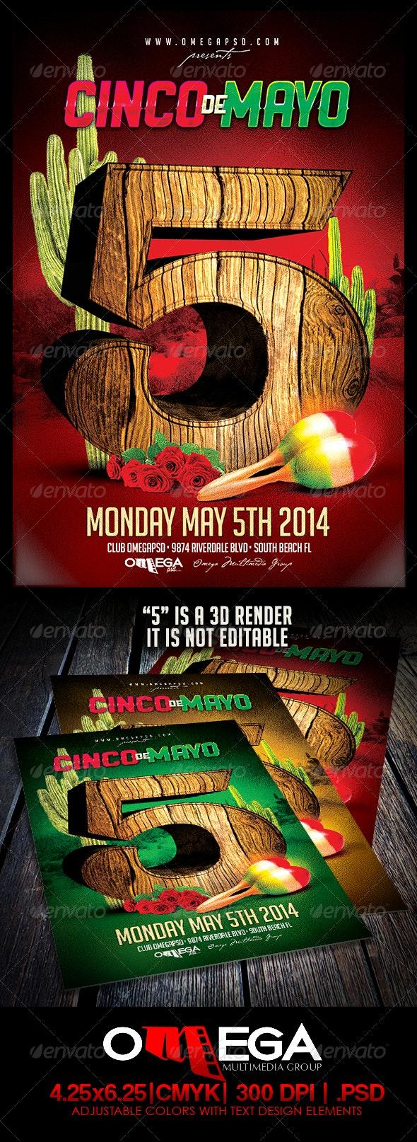 Cinco De Mayo 2014 - Events Flyers