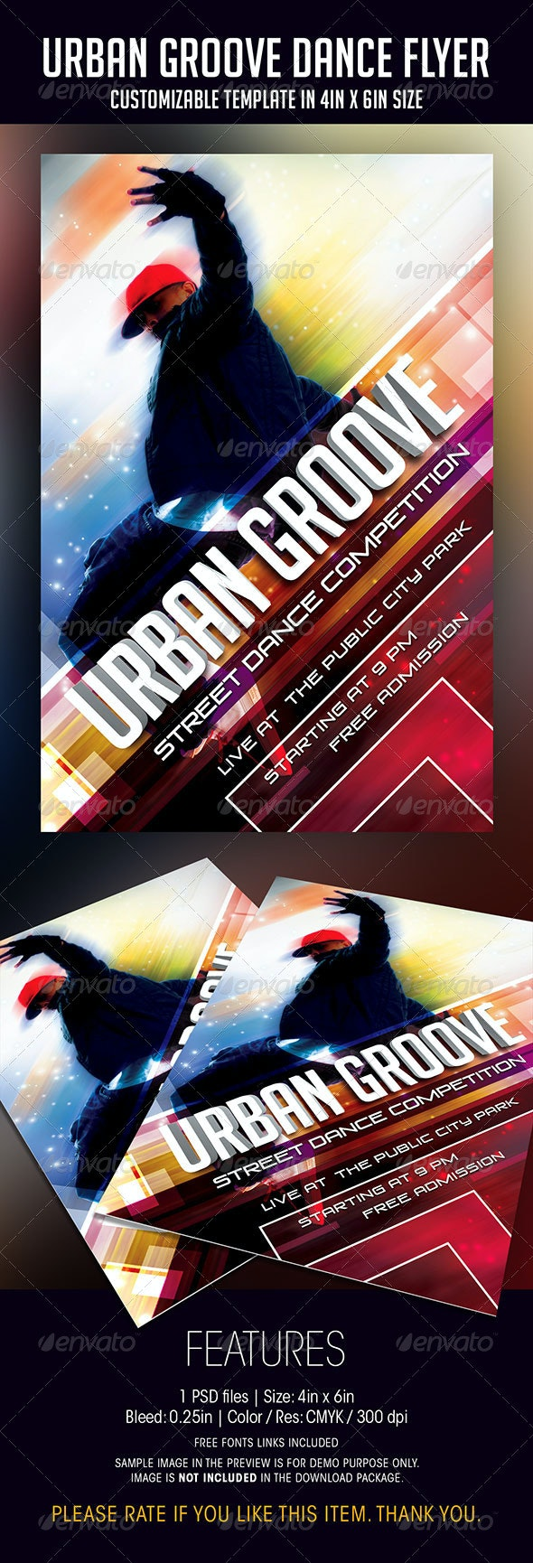 Urban Groove Dance Competition Flyer - Events Flyers