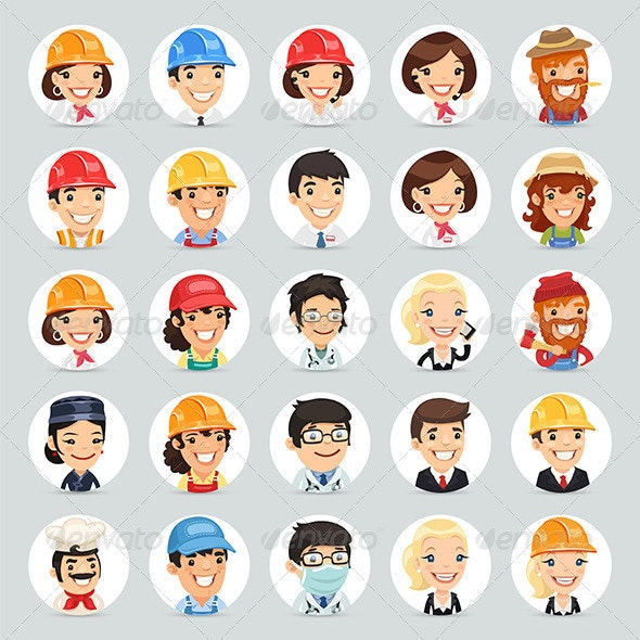 Professions Vector Characters Icons Set1.2 - People Characters