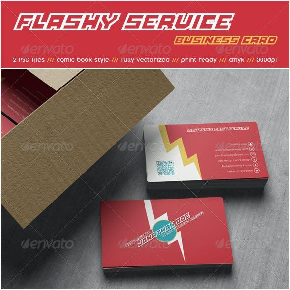 Flashy Service Business Card