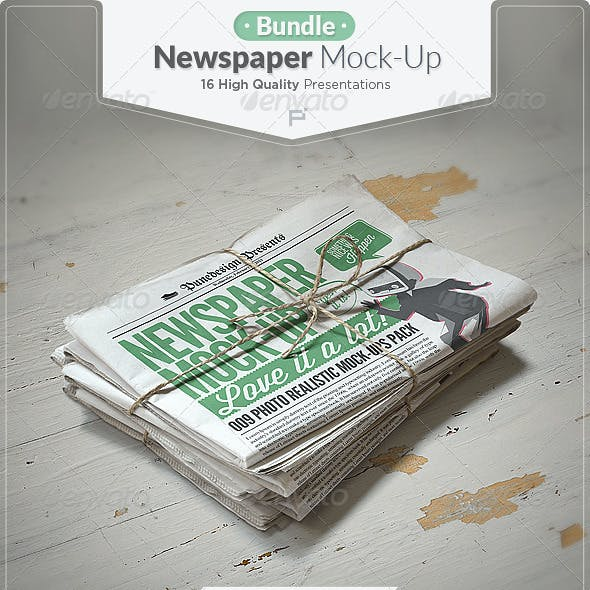 Newspaper Mock-up Bundle