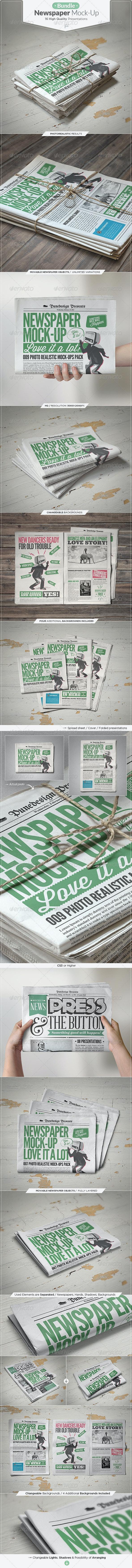 Newspaper Mock-up Bundle - Miscellaneous Print