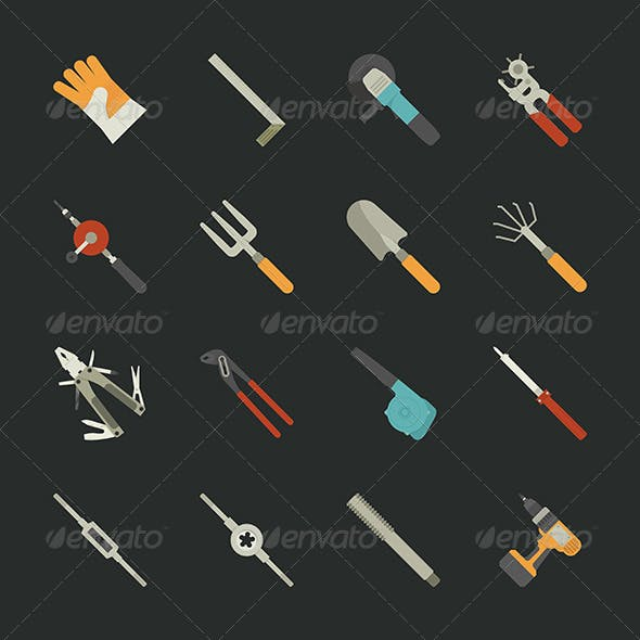 Hand Tools Icon Set