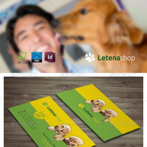 Pet Shop Business Card Templates