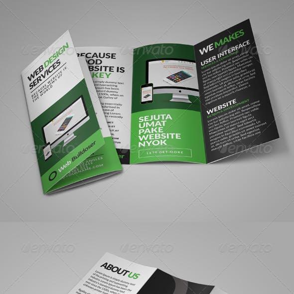 Premium Web Design Trifold Brochure
