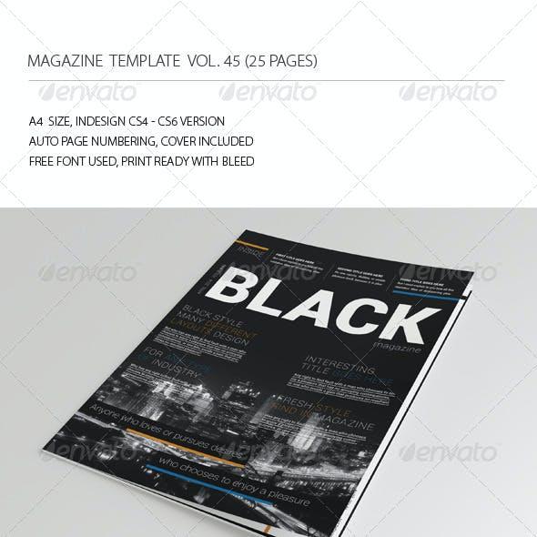 25 Pages Black Magazine Vol45