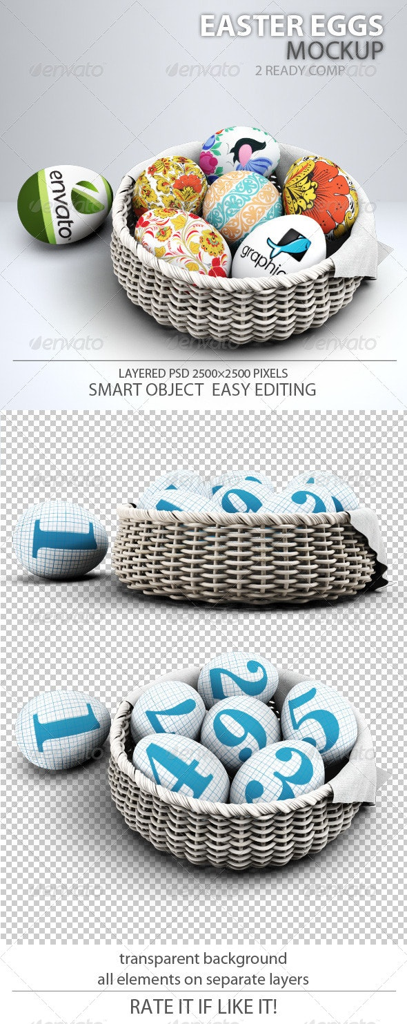 Easter Eggs Mock-up - Miscellaneous Product Mock-Ups