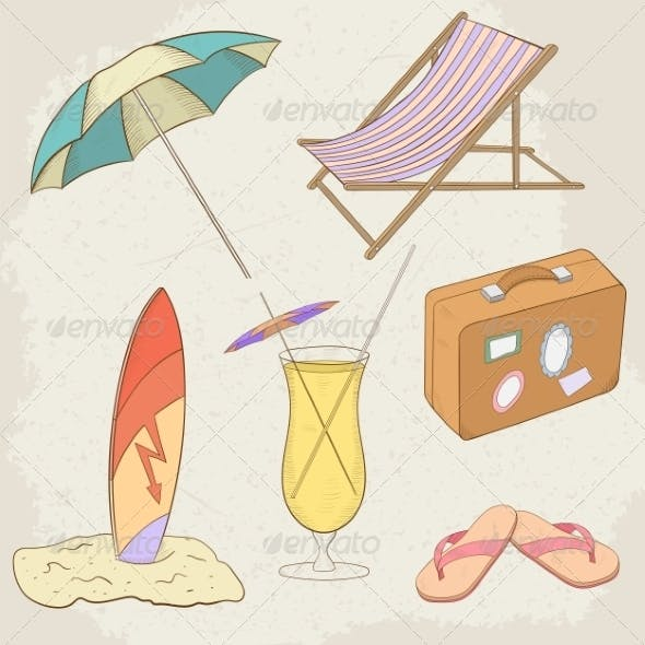 Summer Holiday Hand Drawn Icons