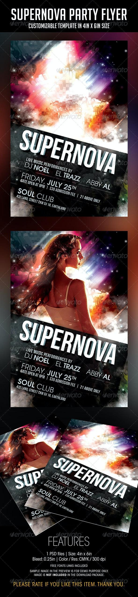 Supernova Party Flyer - Events Flyers
