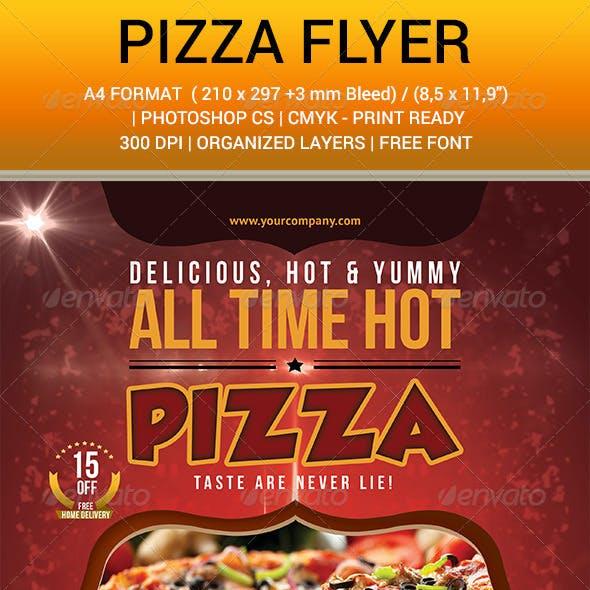 Pizza Flyer Hot Yummy