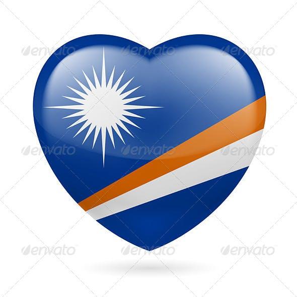 Heart Icon of Marshall Islands