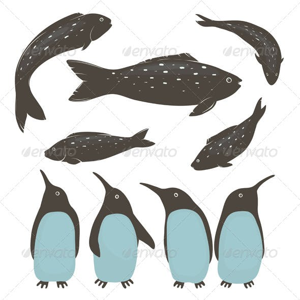 Penguins and Fish Collection