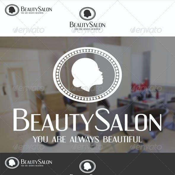 Beauty Salon Badge Logo