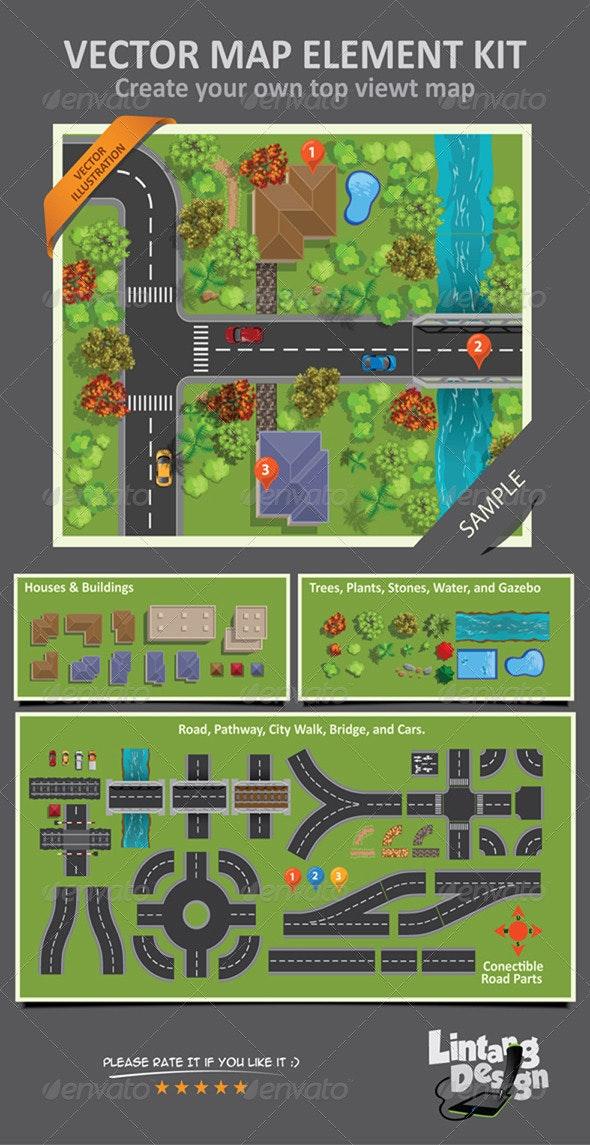 Map Elements - Objects Vectors