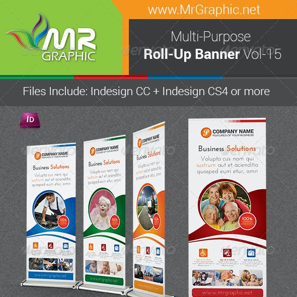 Multi-Purpose Business Roll-Up Banner Vol-15
