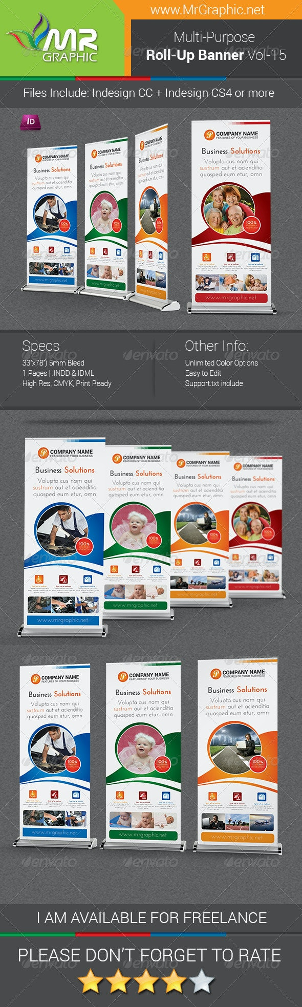 Multi-Purpose Business Roll-Up Banner Vol-15 - Signage Print Templates