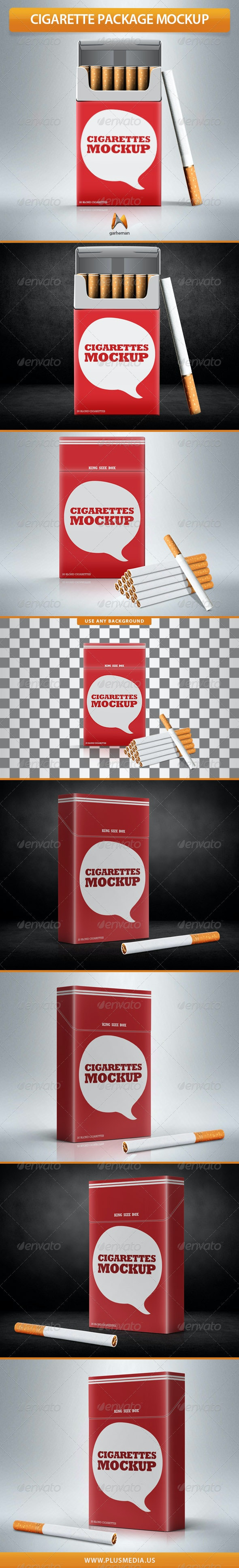 Cigarette Package Mock-Up - Miscellaneous Packaging