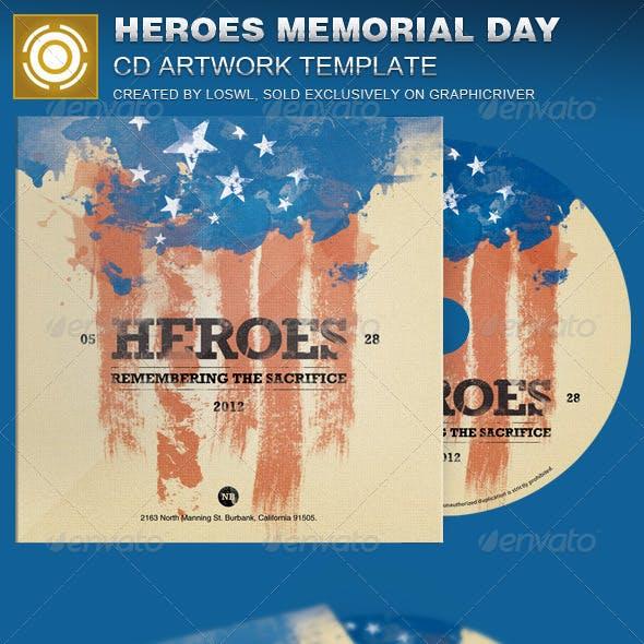 Heroes Memorial Day CD Artwork Template