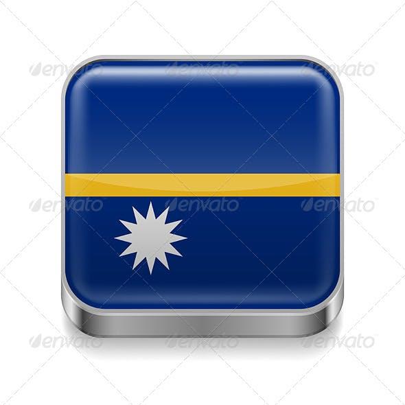 Metal Icon of Nauru