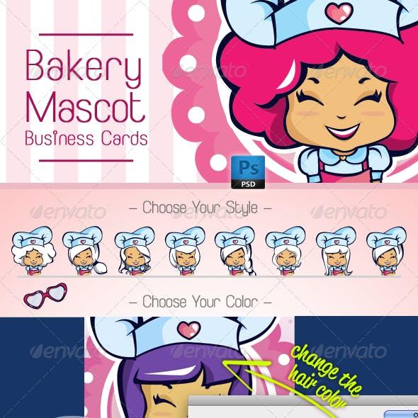 Chef / Cake Designer Mascot Business Card Template