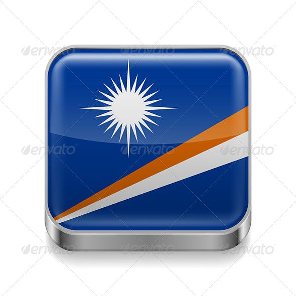 Metal Icon of Marshall Islands