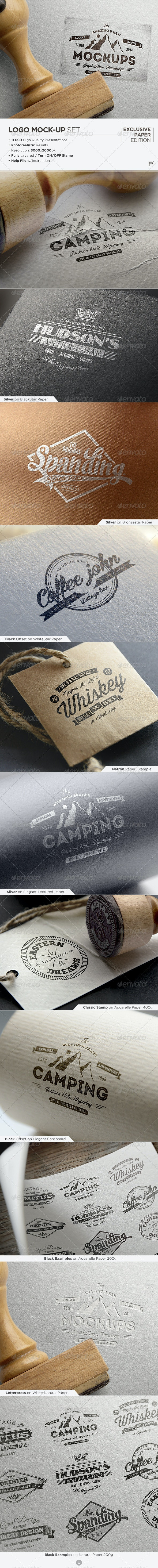 Logo Mock-Up / Exclusive Paper Edition - Logo Product Mock-Ups