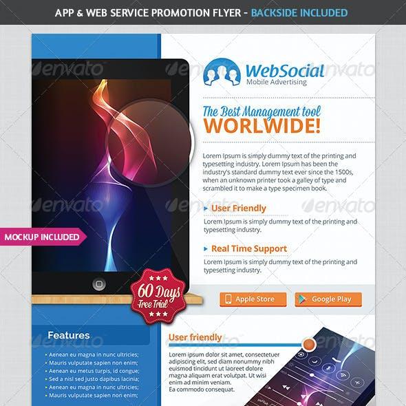 App & Web Service Promotion Flyer