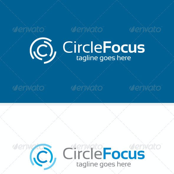 Circle Focus & C Logo Template