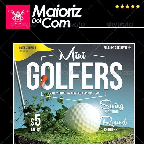 Golfer Event Flyer