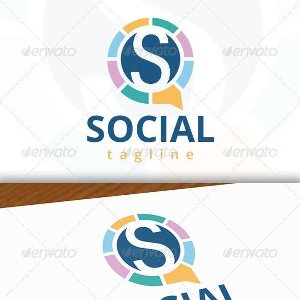Social S Letter Logo