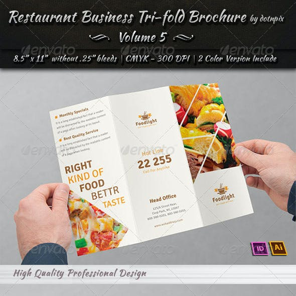 Restaurant Business Tri-Fold Brochure | Volume 5