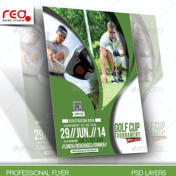 Golf Cup Tournament Flyer Template