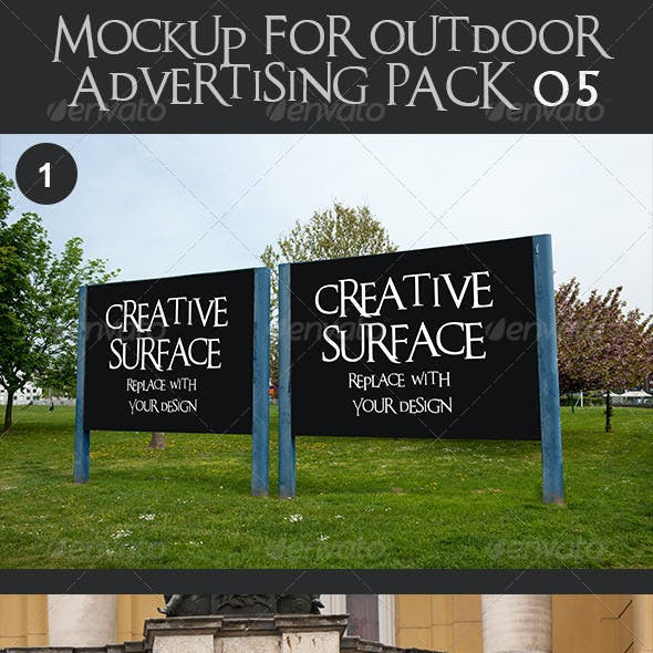 10 Mock Up's for Outdoor Advertising Pack 5