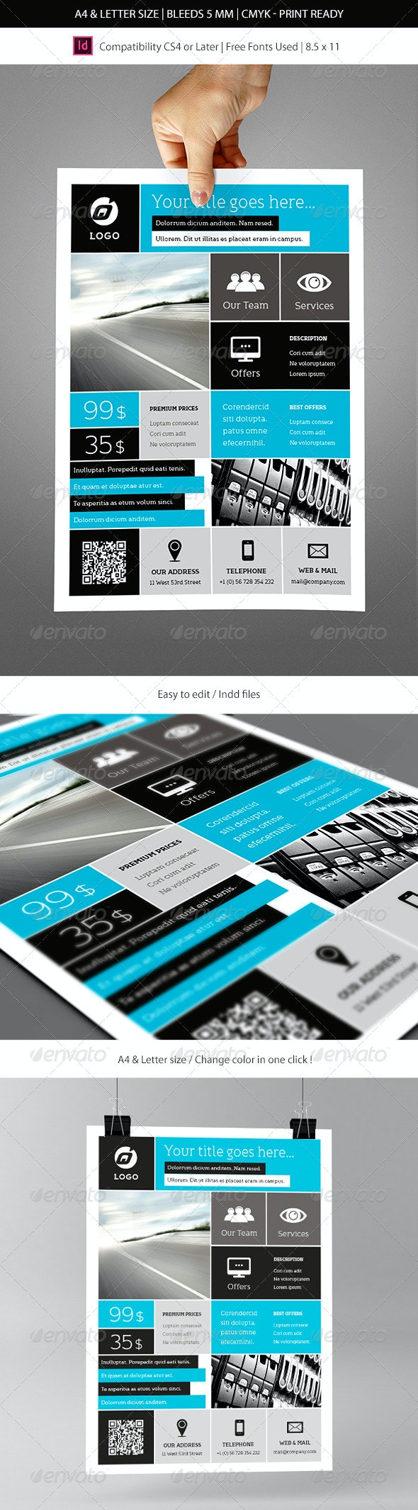 Corporate & Business Commerce Flyer Template - Corporate Flyers