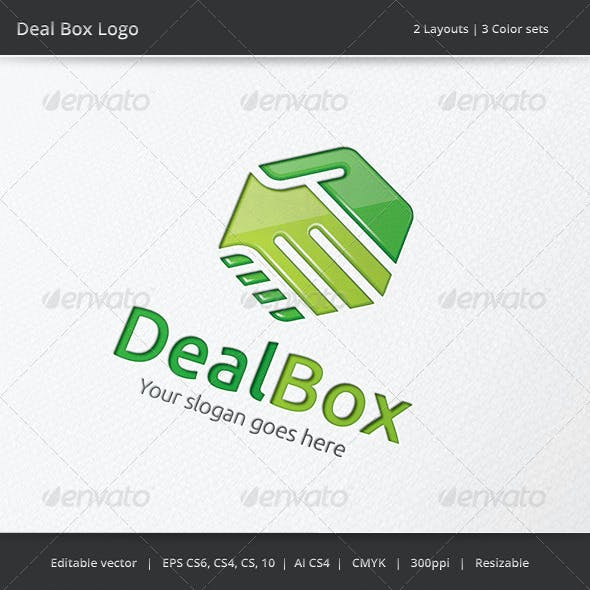 Deal Box Hand Shake Logo