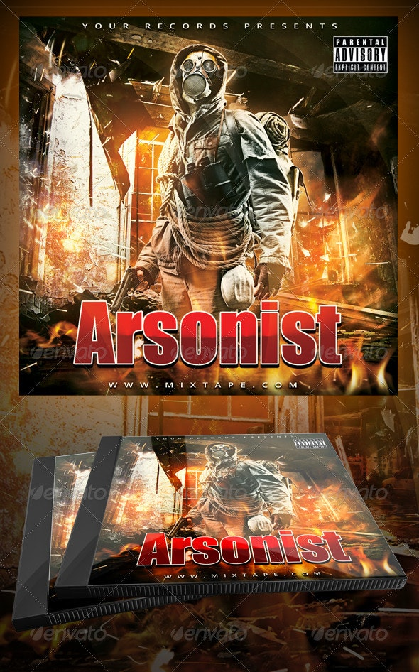 The Arsonist Mixtape / CD Cover Template - CD & DVD Artwork Print Templates