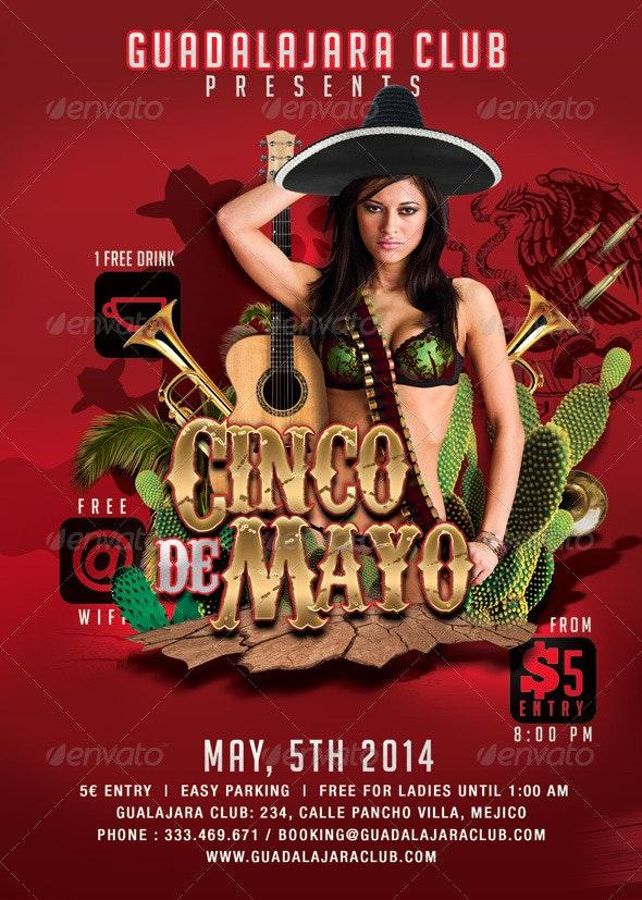 Cinco De Mayo Party Gualajara Club - Events Flyers