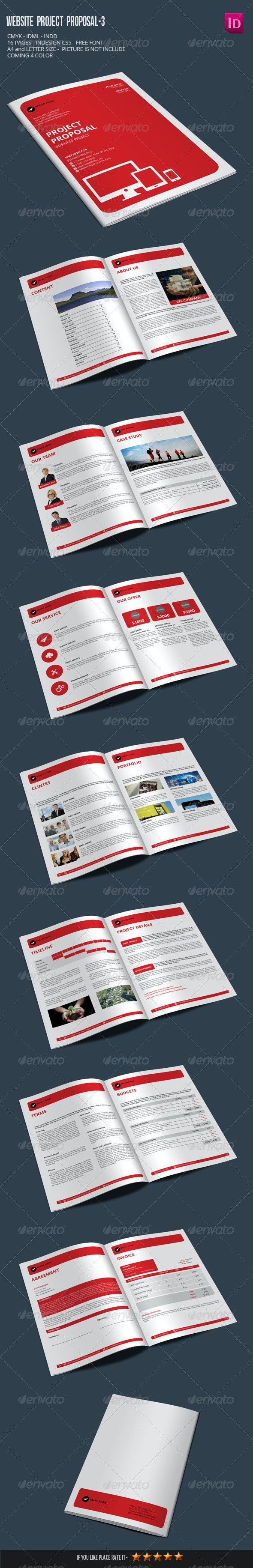 Website Project Proposal-3 - Proposals & Invoices Stationery