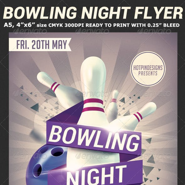 Bowling Nights Flyer Template V2