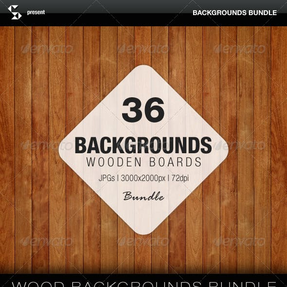 Wooden Boards - Backgrounds Bundle