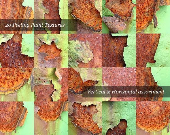 Rusty Peeling Paint (Pack of 20 Photos) - Textures