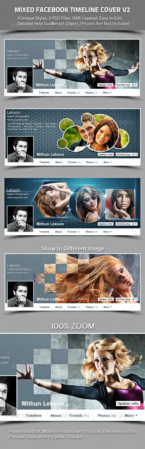 Mixed Facebook Timeline Cover V2 - Facebook Timeline Covers Social Media