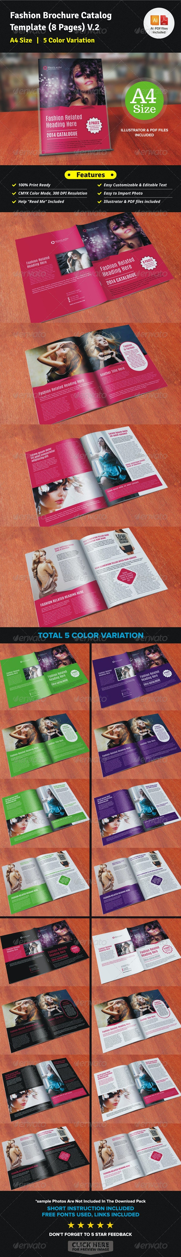 Fashion Brochure Catalog Template (12 Pages) V2 - Corporate Brochures