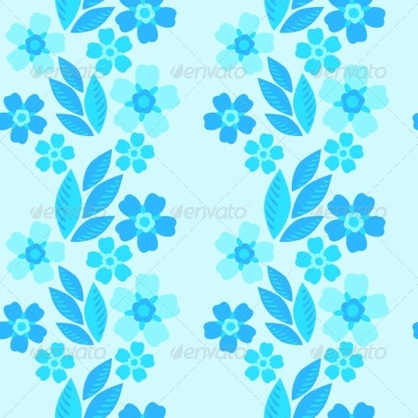 Forget-Me-Not Seamless Pattern