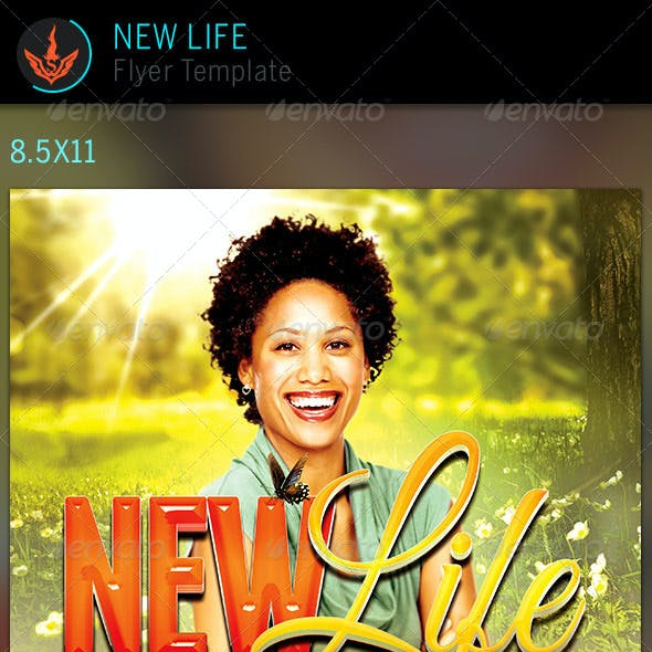 New Life: Church Flyer Template
