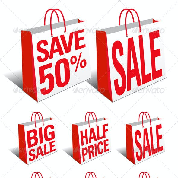 Sale and Save Shopping Bags