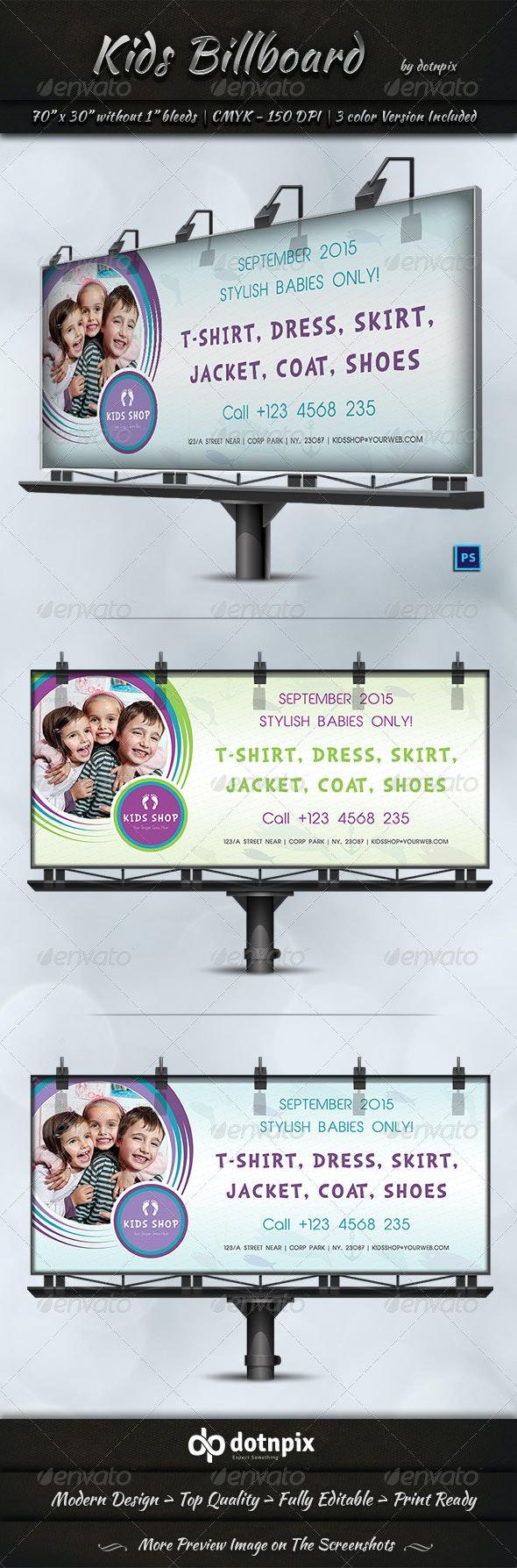 Kids Billboard Template - Signage Print Templates