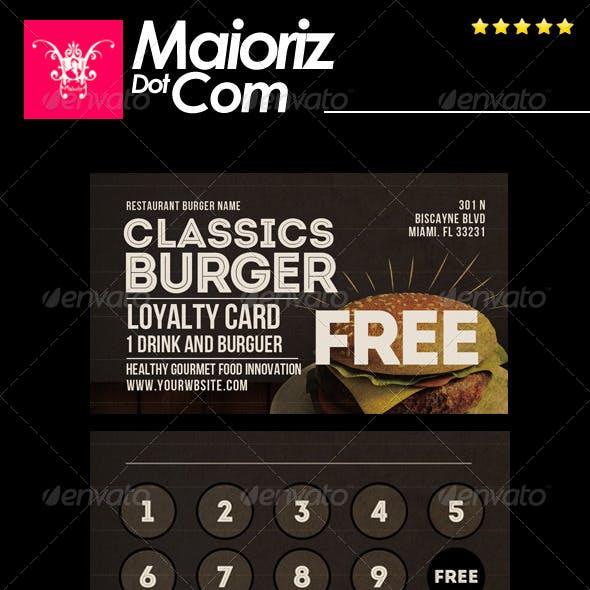 Classic Burger Loyalty Card