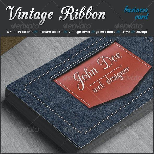Vintage Ribbon Business Card